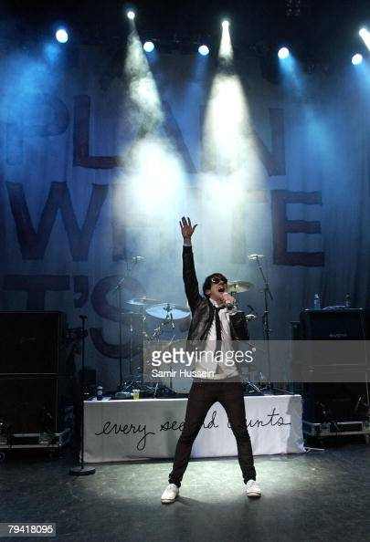 Tom Higgenson of Plain White T's performs live at The Shepherds Bush Empire on January 30 2008 in London England