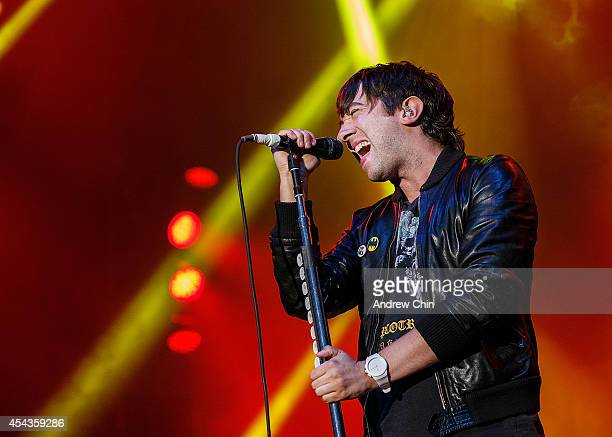 Tom Higgenson of Plain White T's performs on stage at PNE Amphitheatre during Day 12 of The Fair At The PNE on August 29 2014 in Vancouver Canada