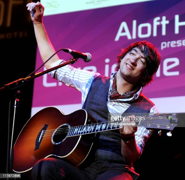 Tom Higgenson of the Plain White T's performs at the Uptown Theatre as part of Aloft Hotels Presents Live in the Vineyard on April 10 2011 in Napa...