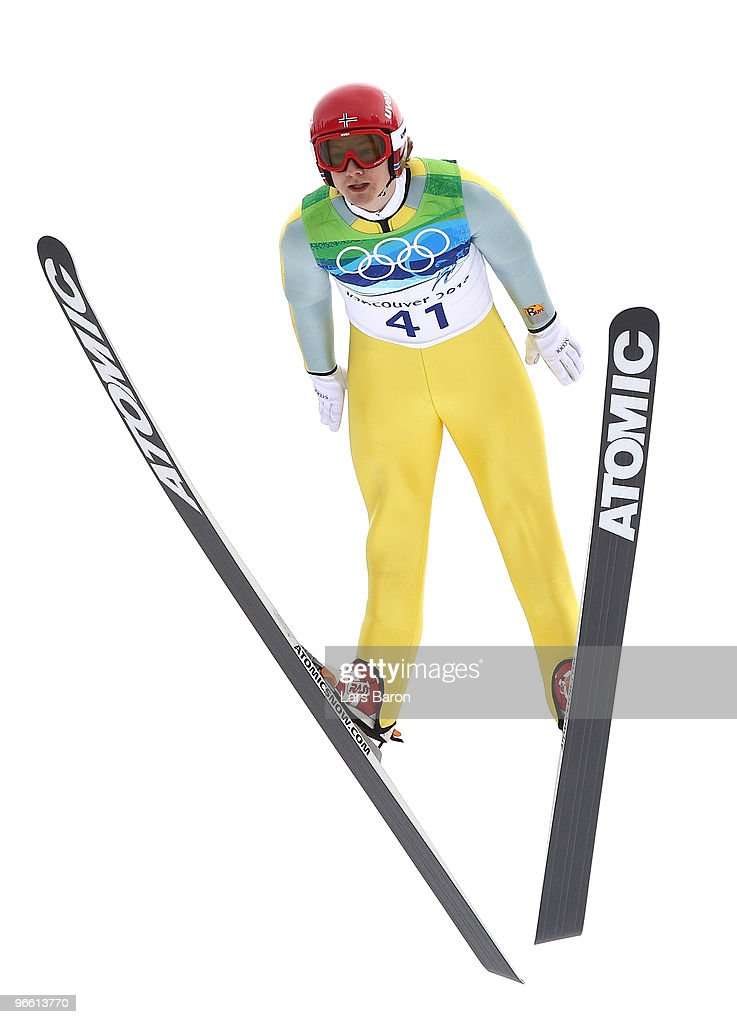 Tom Hilde of Norway competes during the Ski Jumping Normal Hill Individual Trial Round of the 2010 Winter Olympics at Whistler Olympic Park Ski...
