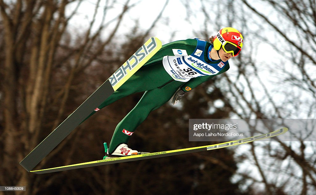 Tom Hilde of Norway competes in the individual HS213 during the FIS Ski Jumping Team Tour 2011 on February 5 2011 in Oberstdorf Germany