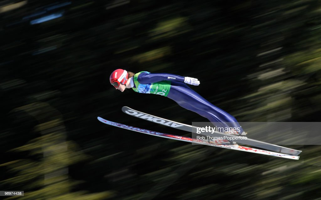 Tom Hilde of Norway competes in the men's ski jumping team event on day 11 of the 2010 Vancouver Winter Olympics at Whistler Olympic Park Ski Jumping...