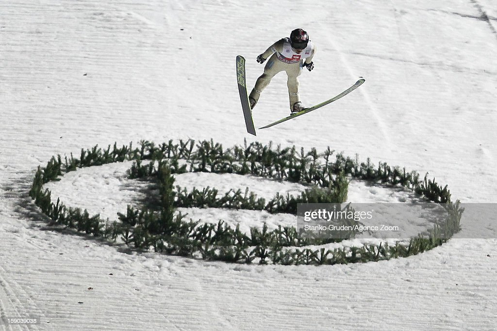 Tom Hilde of Norway during the FIS Ski Jumping World Cup Vierschanzentournee (Four Hills Tournament) on January 06, 2013 in Bischofshofen, Austria.