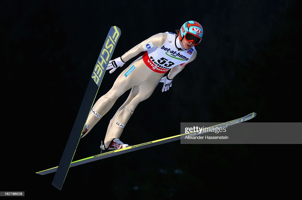 Tom Hilde of Norway in action during the Men's Ski Jumping HS134 Individual Qualification at the FIS Nordic World Ski Championshipson February 27...