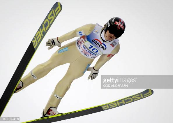 Tom Hilde of Norway jumps during the FIS Ski Jumping World Cup team competition on the Muehlenkopfschanze hill in Willingen western Germany on...