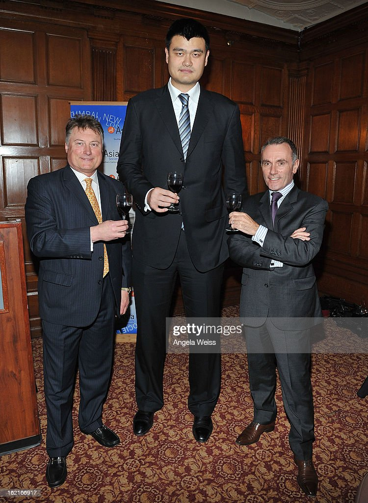 Tom Hinde, NBA Great <a gi-track='captionPersonalityLinkClicked' href=/galleries/search?phrase=Yao+Ming&family=editorial&specificpeople=201476 ng-click='$event.stopPropagation()'>Yao Ming</a> and Jean-Marc Bories attend the Girard-Perregaux and Asia Society event honoring NBA Great <a gi-track='captionPersonalityLinkClicked' href=/galleries/search?phrase=Yao+Ming&family=editorial&specificpeople=201476 ng-click='$event.stopPropagation()'>Yao Ming</a> with Steve Nash at Millennium Biltmore Hotel on February 19, 2013 in Los Angeles, California.