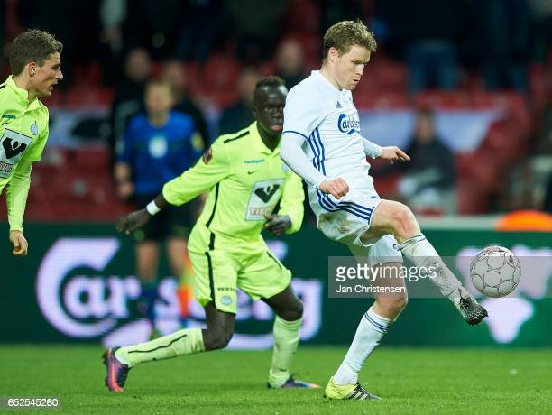 Tom Hogli of FC Copenhagen in action during the Danish Alka Superliga match between FC Copenhagen and Esbjerg fB at Telia Parken Stadium on March 12...