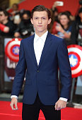 Tom Holand arrives for UK film premiere 'Captain America Civil War' at Vue Westfield on April 26 2016 in London England