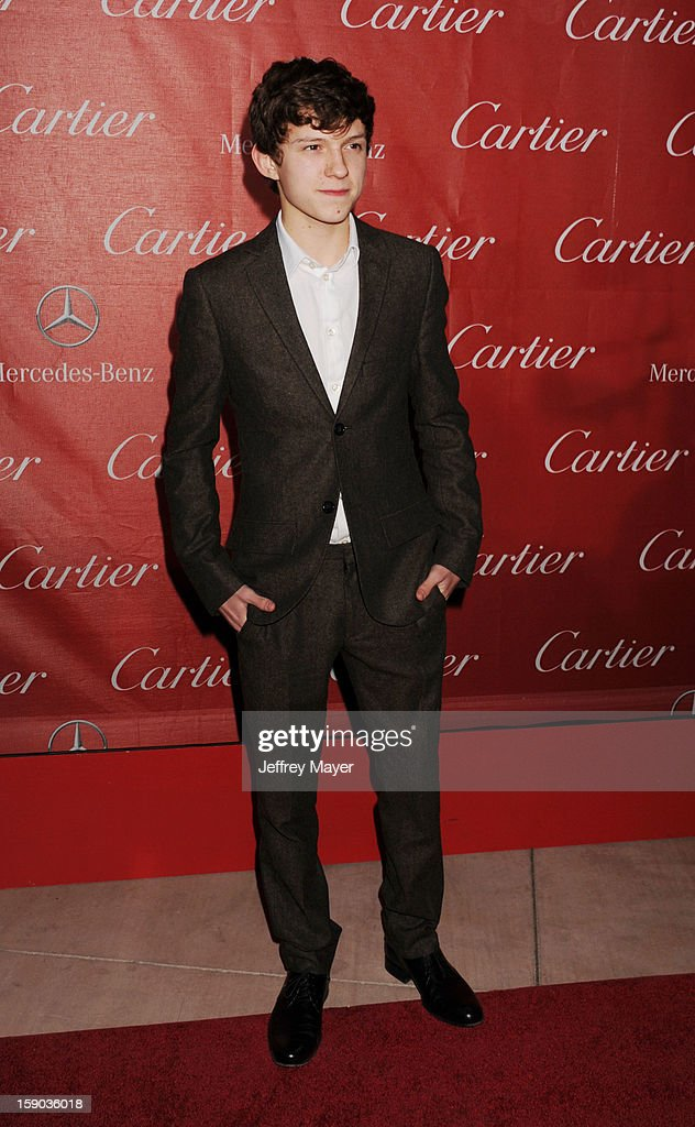 Tom Holland arrives at the 24th Annual Palm Springs International Film Festival - Awards Gala at Palm Springs Convention Center on January 5, 2013 in Palm Springs, California.