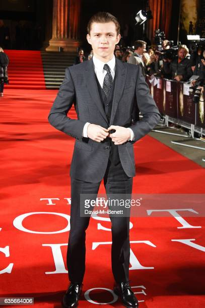 Tom Holland arrives at The Lost City of Z UK Premiere at The British Museum on February 16 2017 in London United Kingdom
