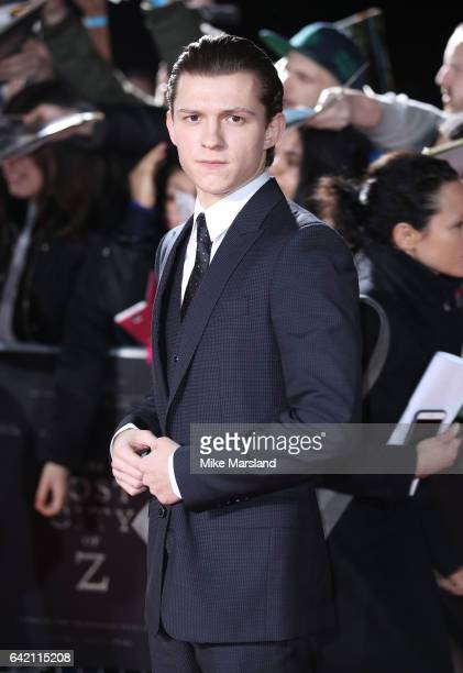 Tom Holland arrives at The Lost City of Z UK premiere on February 16 2017 in London United Kingdom