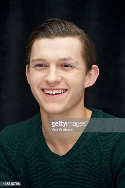 Tom Holland at the 'In The Heart Of The Sea' press conference at the RitzCarlton New York Central Park on November 20 2015 in New York City