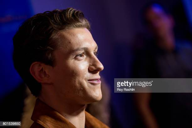 Tom Holland attends 'Spiderman Homecoming' New York First Responders' screening at Henry R Luce Auditorium at Brookfield Place on June 26 2017 in New...