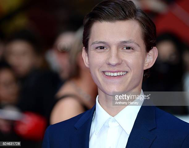 Tom Holland attends the European premiere of 'Captain America Civil War' at Vue Westfield on April 26 2016 in London England