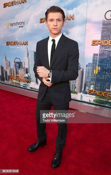 Tom Holland attends the premiere of Columbia Pictures' 'SpiderMan Homecoming' at TCL Chinese Theatre on June 28 2017 in Hollywood California