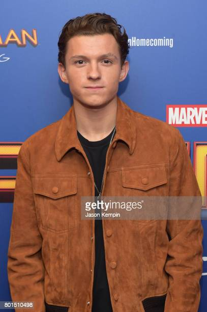 Tom Holland attends the 'Spiderman Homecoming' New York First Responders' Screening at Henry R Luce Auditorium at Brookfield Place on June 26 2017 in...