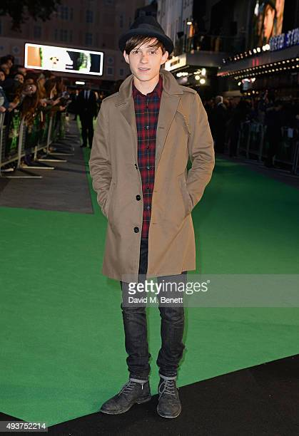 Tom Holland attends the World Premiere of 'Ed Sheeran Jumpers For Goalposts' at Odeon Leicester Square on October 22 2015 in London England