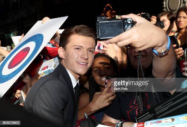 Tom Holland attends the World Premiere of 'SpiderMan Homecoming' hosted by Audi at TCL Chinese Theatre on June 28 2017 in Hollywood California