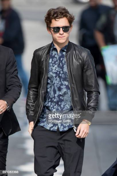 Tom Holland is seen at 'Jimmy Kimmel Live' on May 31 2017 in Los Angeles California