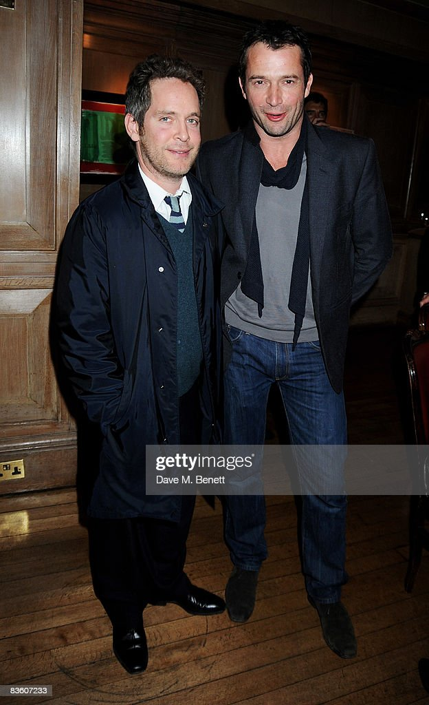 Tom Hollander and James Purefoy attend the VIP launch of Hollywood Dominos to benefit Charlize Theron's Africa Outreach Project at Mosimann's on November 7, 2008 in London, England.