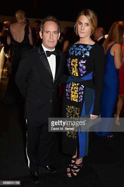 Tom Hollander and Lady Kinvara Balfour attend the BFI London Film Festival IWC Gala Dinner in honour of the BFI at Battersea Evolution Marquee on...
