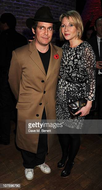 Tom Hollander and Lisa Dillon attend the afterparty following the press night of 'A Flea In Her Ear' at Vinopolis on December 14 2010 in London...
