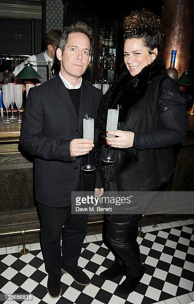 Tom Hollander and Vanessa Xuereb attend The Weinstein Company Dinner Hosted By Grey Goose in celebration of BAFTA at Dean Street Townhouse on...