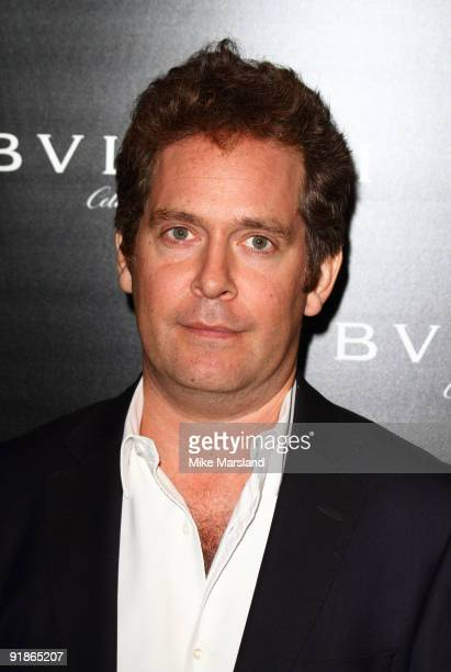 Tom Hollander attends the Vogue/Bvlgari reception in honour of Save The Children/Rewrite The Future at Saatchi Gallery on October 13 2009 in London...