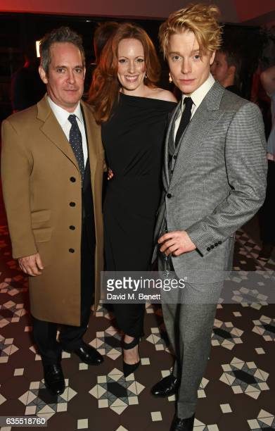 Tom Hollander Clare Foster and Freddie Fox attend the press night after party for 'Travesties' at 100 Wardour St on February 15 2017 in London England
