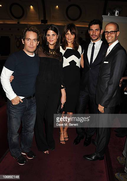 Tom Hollander Katrina Pavlos Helena Christensen David Gandy and Edoardo Ponti attend the private screening of 'Away We Stay' commissioned by W Hotels...