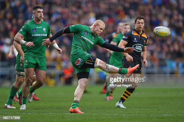 Tom Homer of London Irish in action during the Aviva Premiership match between Wasps and London Irish at the Ricoh Arena on December 21 2014 in...