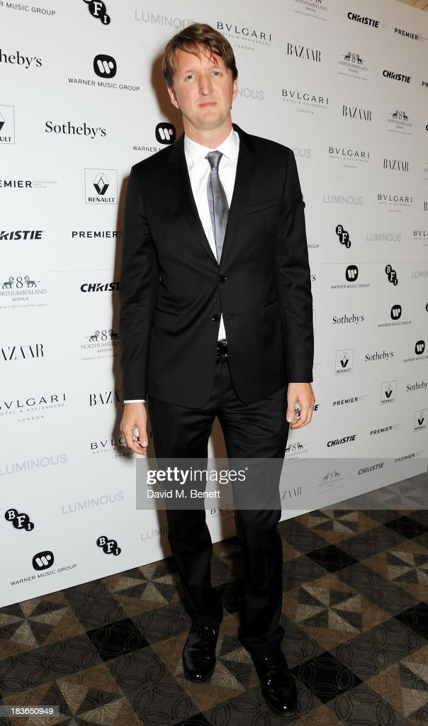 <a gi-track='captionPersonalityLinkClicked' href=/galleries/search?phrase=Tom+Hooper&family=editorial&specificpeople=681836 ng-click='$event.stopPropagation()'>Tom Hooper</a> attends a BFI Luminous Gala ahead of the London Film Festival at 8 Northumberland Avenue on October 8, 2013 in London, England.