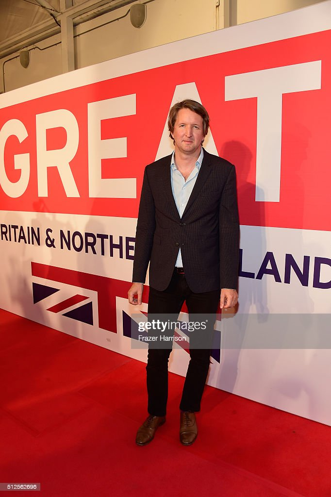 Tom Hooper attends the Film is GREAT Reception at Fig & Olive on February 26, 2016 in West Hollywood, California.