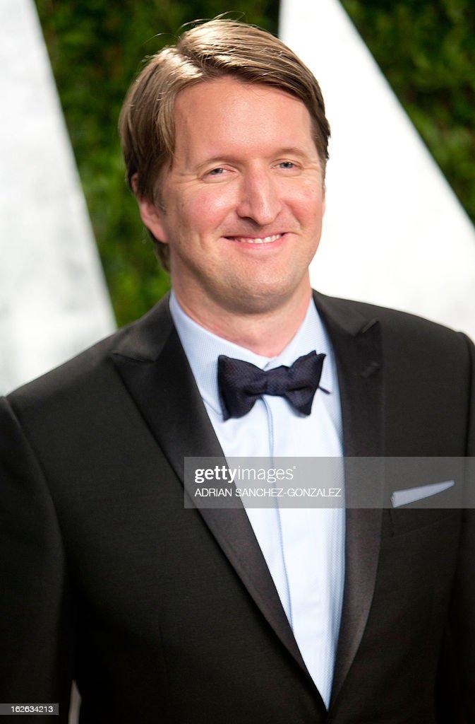 Tom Hopper arrives for the 2013 Vanity Fair Oscar Party on February 24, 2013 in Hollywood, California.