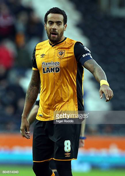 Tom Huddlestone of Hull City during The Emirates FA Cup Third Round match between Hull City and Brighton Hove Albion at KC Stadium on January 9 2016...