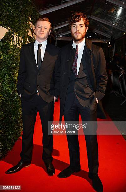 Tom Hughes arrives at the London Evening Standard British Film Awards at Television Centre on February 7 2016 in London England