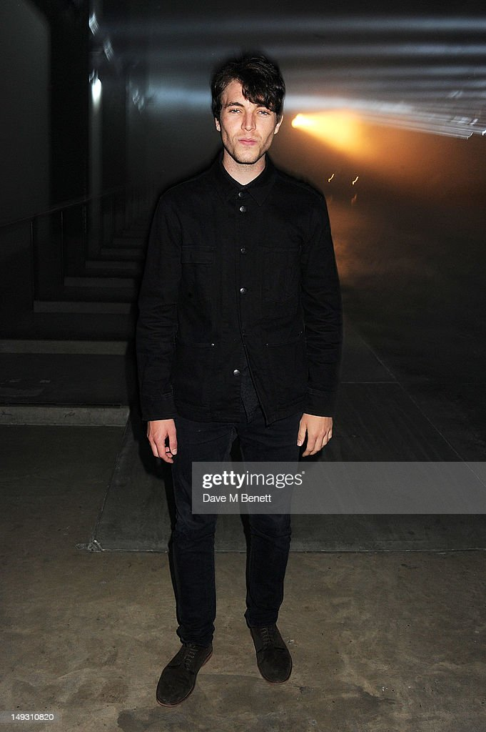 Tom Hughes arrives at the Warner Music Group Pre-Olympics Party in the Southern Tanks Gallery at the Tate Modern on July 26, 2012 in London, England.