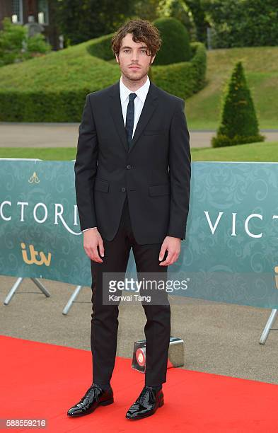 Tom Hughes arrives for the premiere screening of ITV's 'Victoria' at The Orangery on August 11 2016 in London England