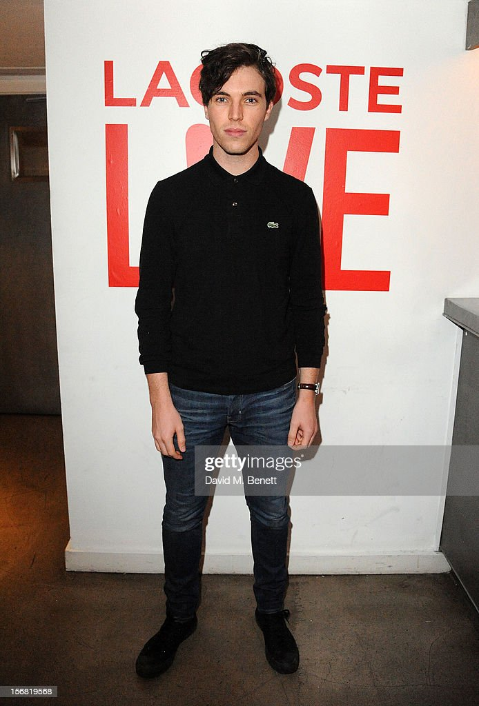 Tom Hughes attends the launch of Lacoste L!VE at Shoreditch House on November 21, 2012 in London, England.