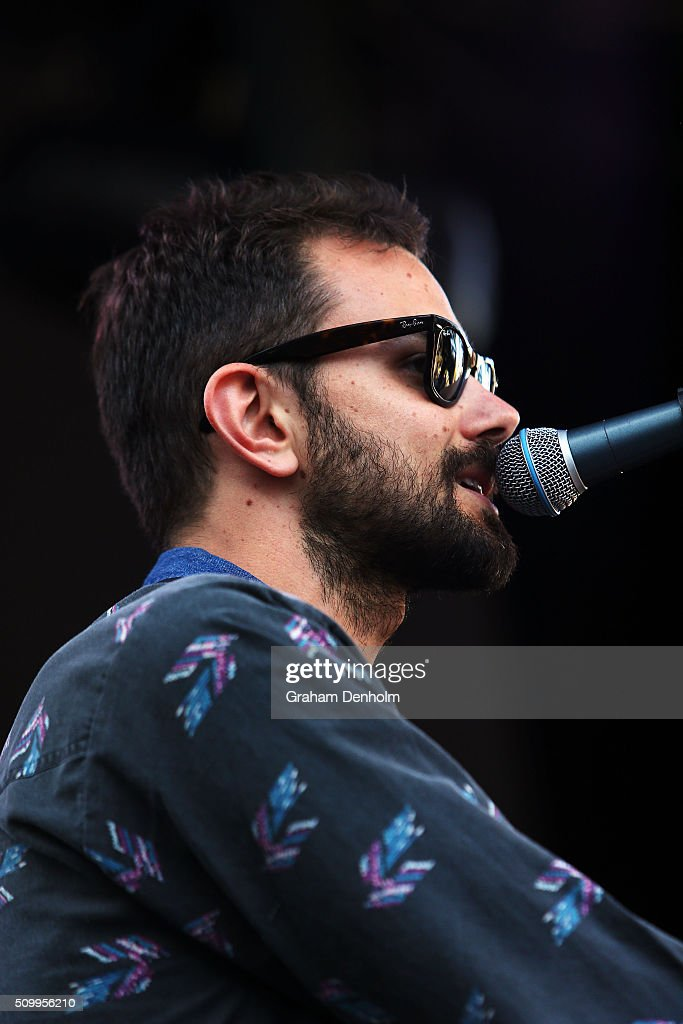 Tom Iansek of Big Scary performs at St Jerome's Laneway Festival on February 13, 2016 in Melbourne, Australia.