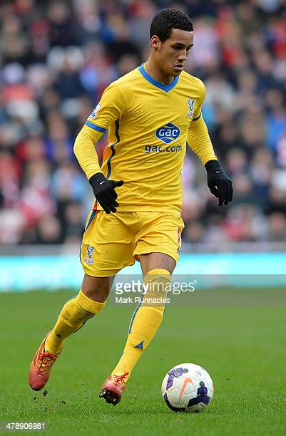 Tom Ince of Crystal Palace in action during the Barclays English Premier League match between Sunderland and Crystal Palace at the Stadium of Light...