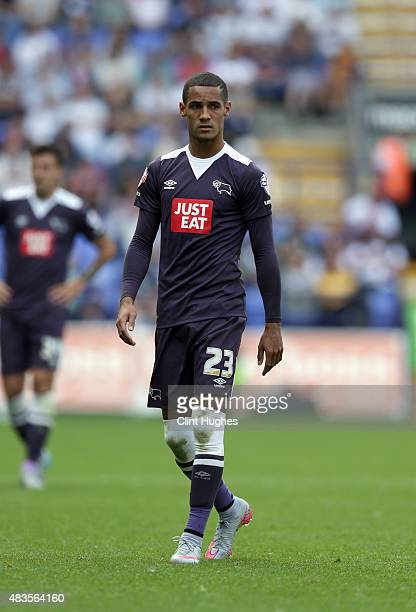 Tom Ince of Derby County during the Sky Bet Championship match between Bolton Wanderers and Derby County at the Macron Stadium on August 8 2015 in...