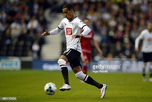 Tom Ince of Derby County during the Sky Bet Championship match between Derby County and Middlesbrough at Pride Park Stadium on August 18 2015 in...