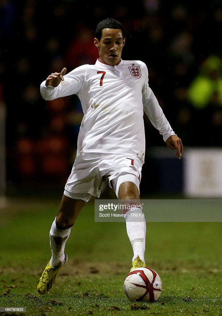 Tom Ince of England during the International Match between England Under 21's and Sweden Under 21's at Banks' Stadium on February 5, 2013 in Walsall, England.