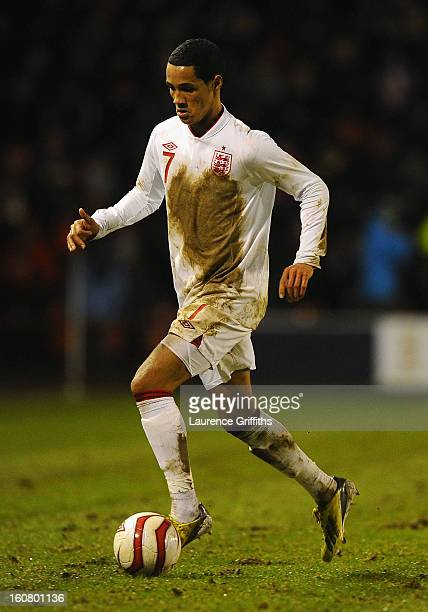 Tom Ince of England in action during the U21 International match between England U21 and Sweden U21 at Banks' Stadium on February 5 2013 in Walsall...