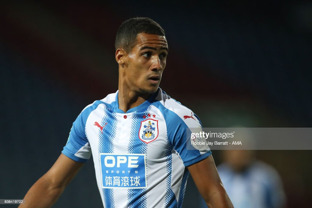 Tom Ince of Huddersfield Town during the Carabao Cup Second Round match between Huddersfield Town and Rotherham United at The John Smiths Stadium on August 23, 2017 in Huddersfield, England.