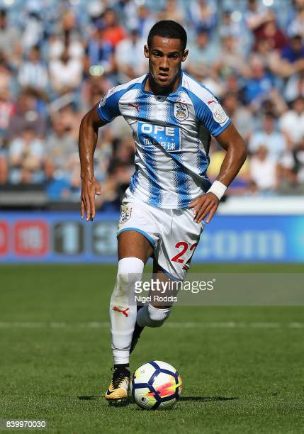 Tom Ince of Huddersfield Town during the Premier League match between Huddersfield Town and Southampton at Galpharm Stadium on August 26 2017 in...