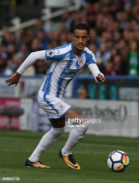 Tom Ince of Huddersfield Town during the Premier League match between Huddersfield Town and Leicester City at John Smith's Stadium on September 16...