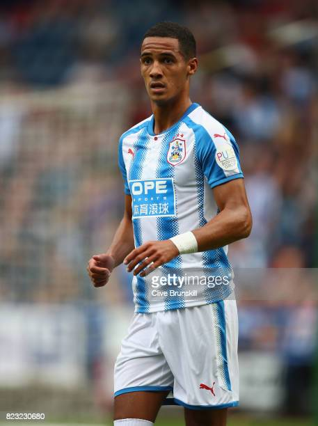 Tom Ince of Huddersfield Town in action during the pre season friendly match between Huddersfield Town and Udinese at Galpharm Stadium on July 26...