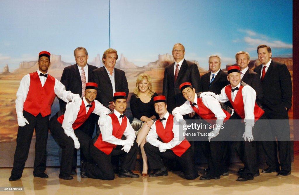 Tom Jenkins Gary Selesner Bette Midler John Meglen with Dancers